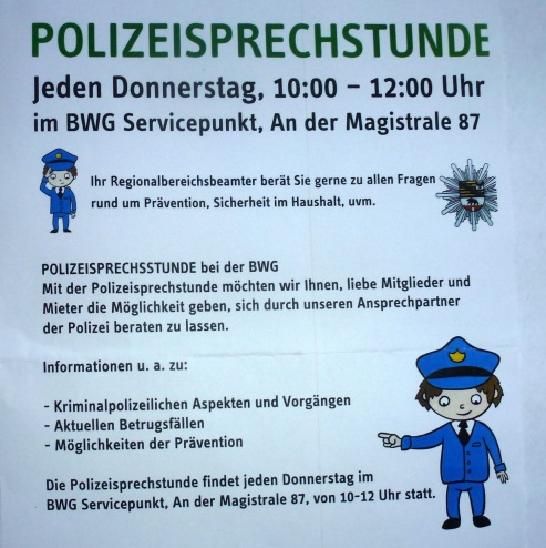 Beitrag 07/2016: Polizeisprechstunde für Prävention